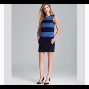 Theory emanita dress sz 6 blue and navy dress